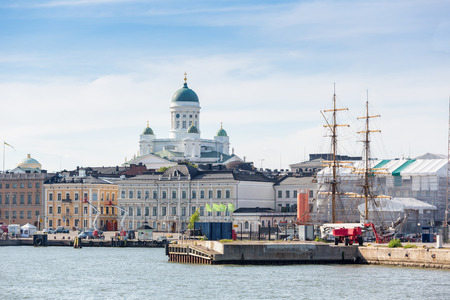 Lutheran Cathedral and Harbour in Helsinki