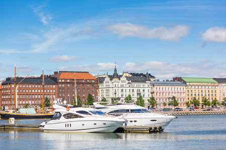 Yachts and Buildings in Helsinki photo