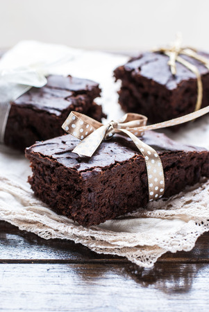 Chocolade Brownies Stockfoto