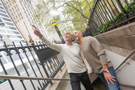 Gay Couple Visiting New York City photo