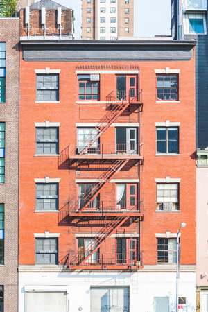 Typische Fire Escape in New York Gebouwen