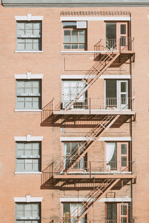 Typical Fire Escape in New York Buildings photo