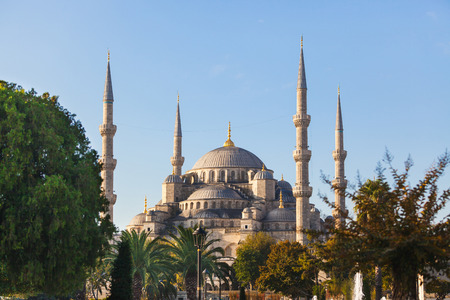 blue mosque: Blue Mosque in Istanbul on a sunny day