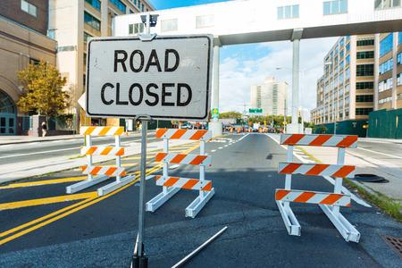roadwork: Roadwork signs on the Street Stock Photo