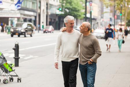 amor gay: Gay Pares que recorren en Nueva York