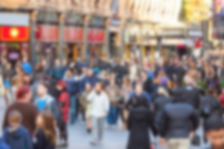 intentionally: Crowded street in London, blurred background Stock Photo