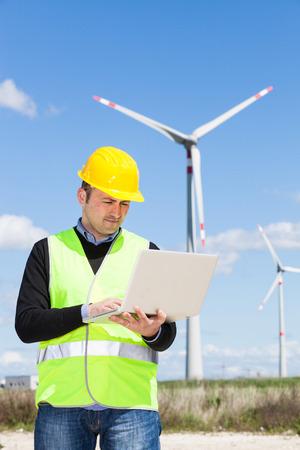wind energy: Technician Engineer in Wind Turbine Power Generator Station