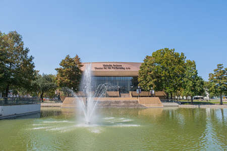 New Orleans, Louisiana/USA - 10/1/2020: Mahalia Jackson Theater for the Performing Arts