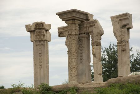 Ruins of historic Chinese royal garden