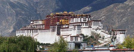 Panorama of the Potala Palace Editorial