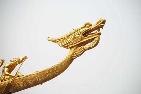 Chinese dragon boat Imagens