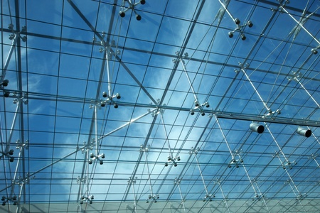 glass ceiling: glass ceiling Stock Photo