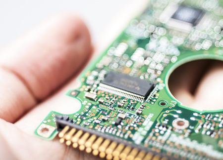 circuit board in hand photo