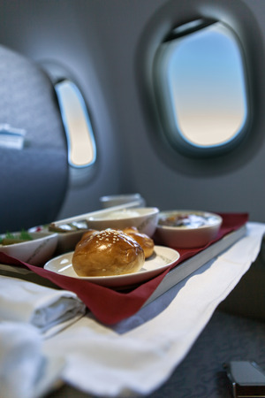 trays: airline meal