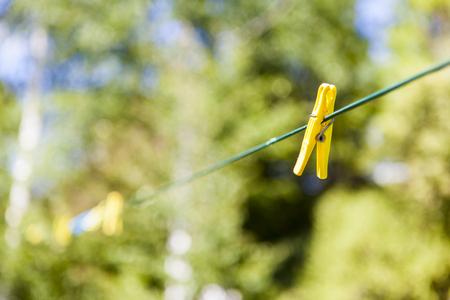 clothesline: clothespin on clothesline