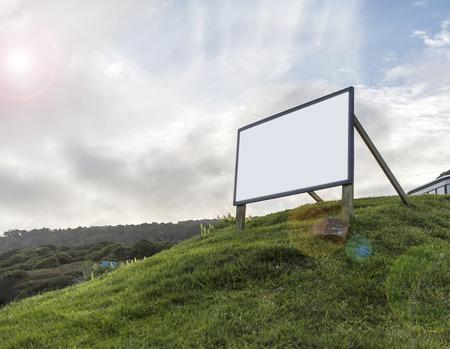 empty: empty billboard on mountain Stock Photo