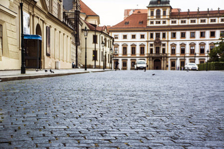 urban road: cobblestone street in Europe