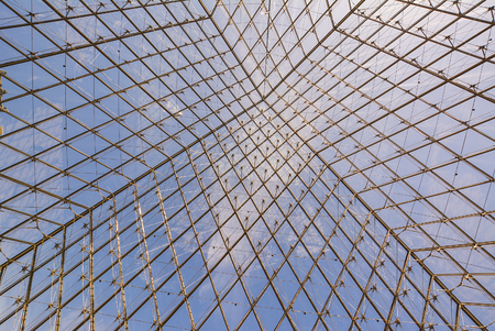 glass ceiling: look through glass ceiling to sky