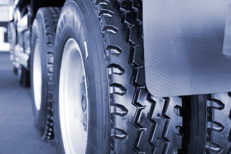tyre tread: truck tyre close up