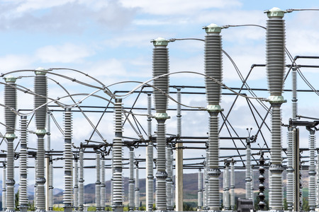electricity substation: electricity transformer substation devices