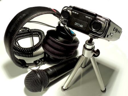 fidelidad: Equipo de grabación de audio profesional para radio, cine y televisión.