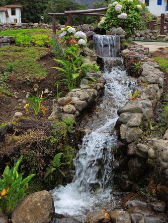 Waterfall, detail in the Valley, Merida Venezuela. Stock Photo