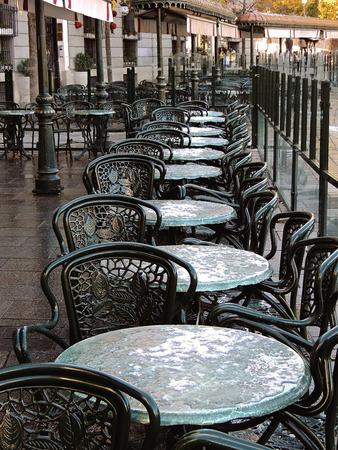 Coffee in Plaza Oriente, walk around Madrid