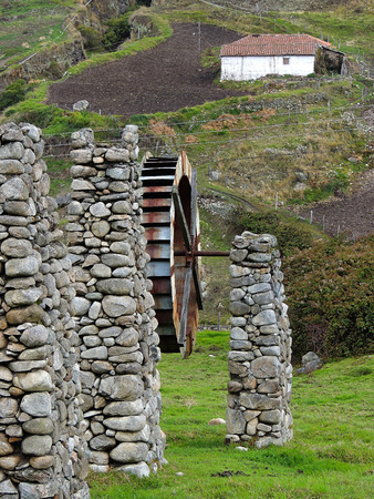 aqueduct: Aqueduct in San Rafael de Mucuchies Stock Photo