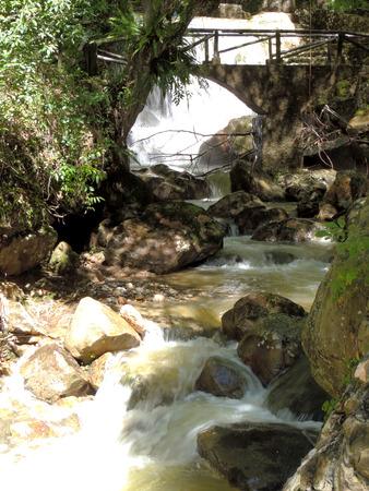 Waterfall, detail in Chorros de Milla, Merida Venezuela.