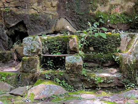 Roads Milla Chorros stone in park Merida Venezuela.