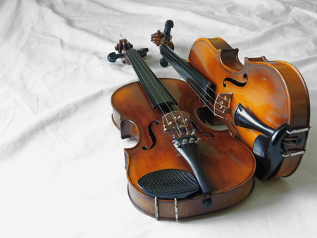 Violin, classical orchestral musical instrument