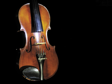 Violin, classical orchestral musical instrument Imagens - 95849186