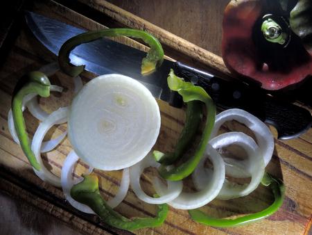 Fresh paprika and onion