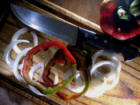 Fresh paprika and onion Imagens - 96987977