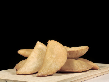 Meat and cheese empanadas Imagens - 127655613