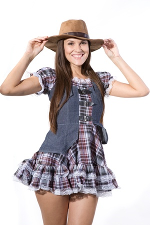 sexy girl dance: very beautiful and sexy country and western girl in line dance theme