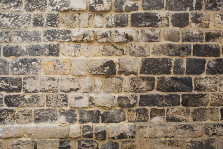 archtecture: very old brick wall Stock Photo