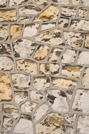 archtecture: old wall of rocks