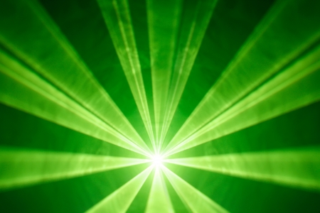 green laser light background