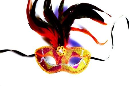 eye mask: colorful venetian mask on white background Stock Photo