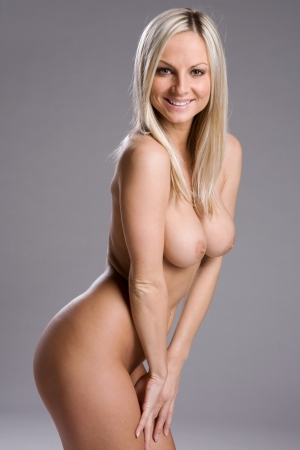 a very sexy and beautiful nude woman Stock Photo