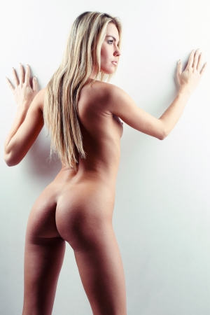 very beautiful nude or naked woman Stock Photo