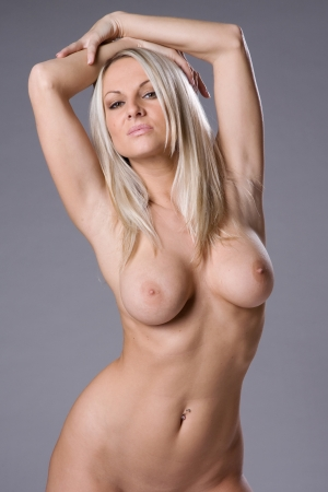 nude: a very sexy and beautiful nude woman Stock Photo