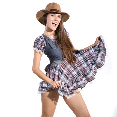striptease women: very beautiful country and western girl in line dance theme