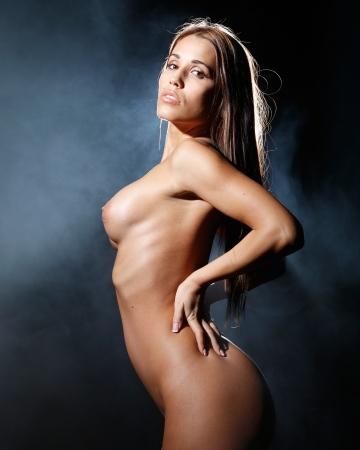 sehr sexy nackte Frau