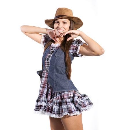 sexy girl dance: very beautiful and sexy country and western girl or woman in line dance theme
