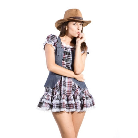 line dance: very beautiful country and western girl in line dance theme