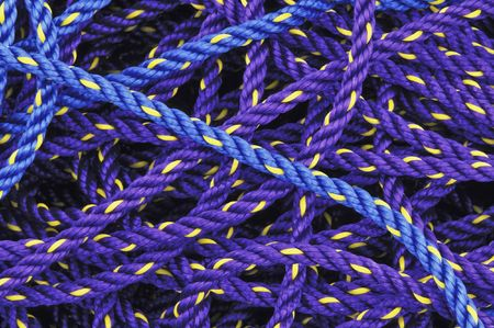 カラフルな紫と青釣りロープ