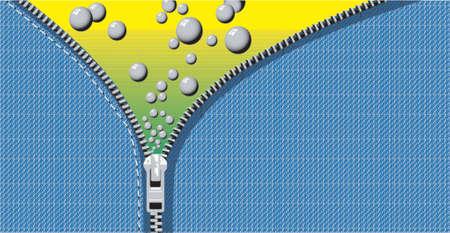 effervescence: Bubble Zip Illustration