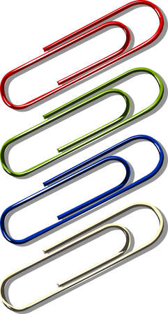 A collection of paperclips Illustration